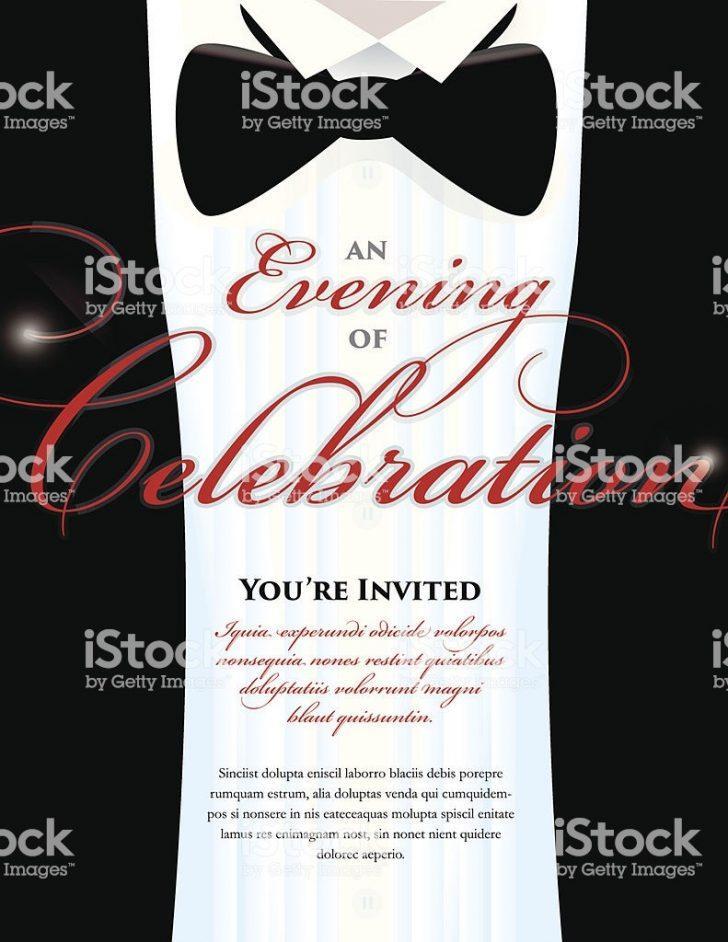 Black Tie Invitation Template Free