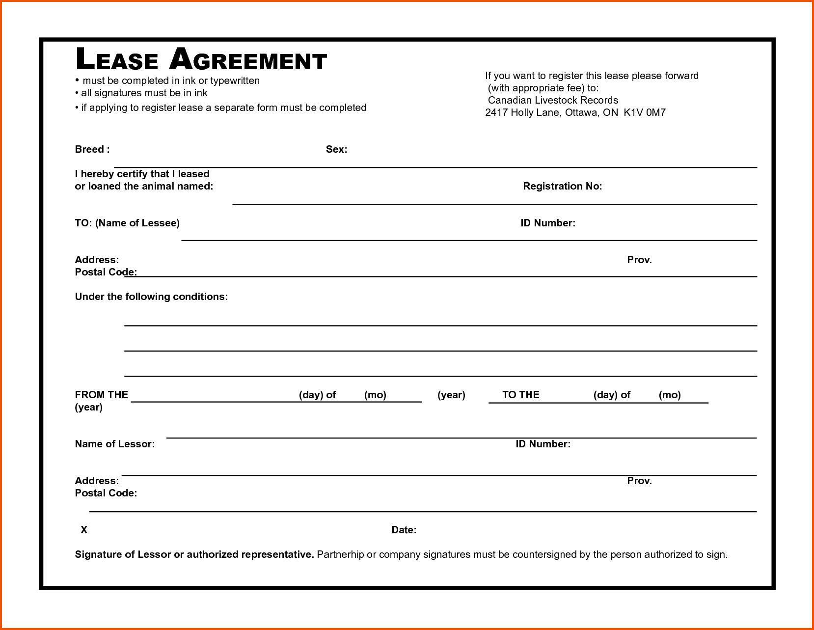 Blank Tenancy Agreement Template