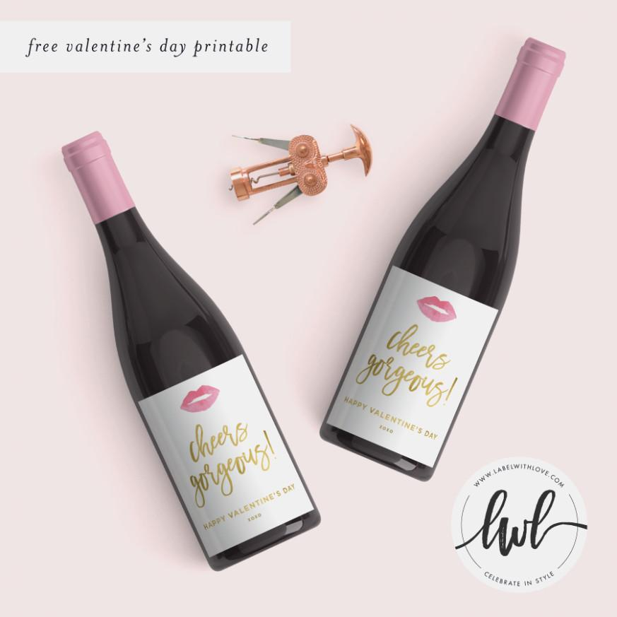 Blank Wine Label Template Free