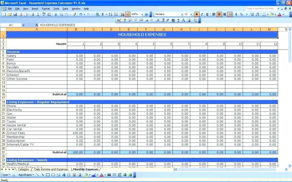 Budget Spreadsheet For Mac Numbers