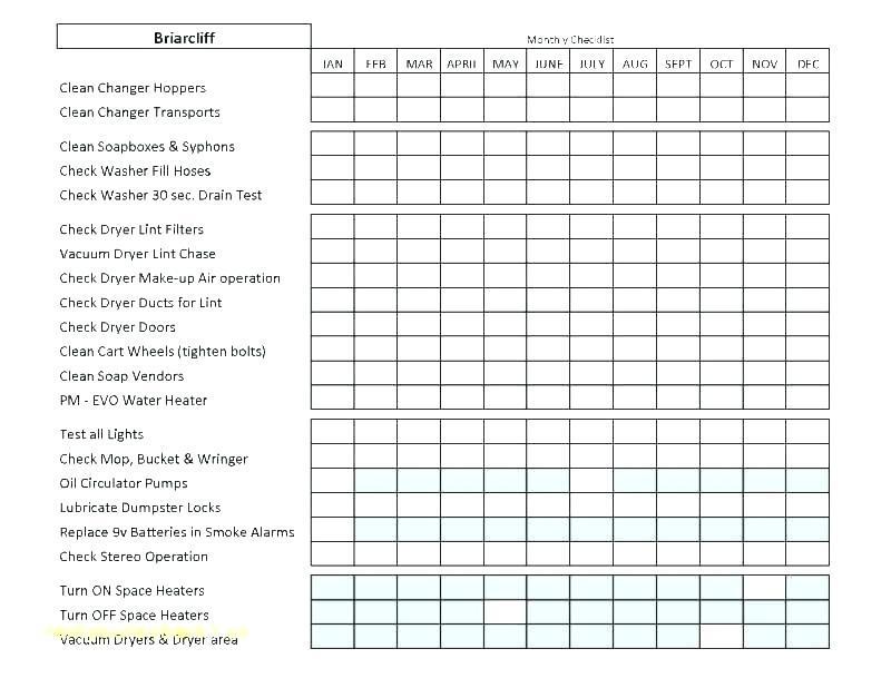Building Electrical Maintenance Checklist Template