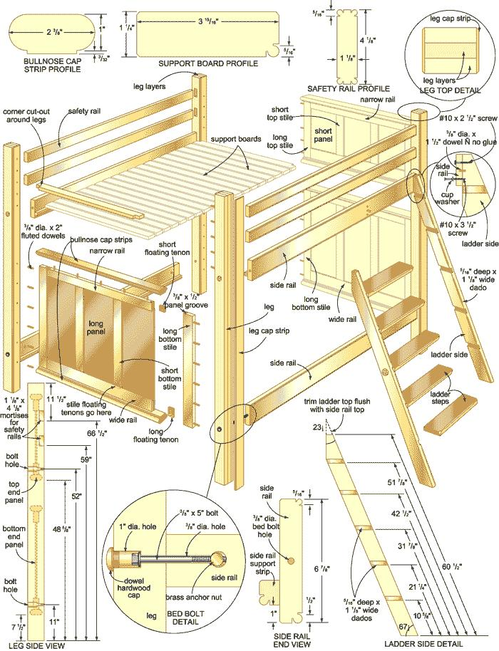 Bunk Bed Plans Free