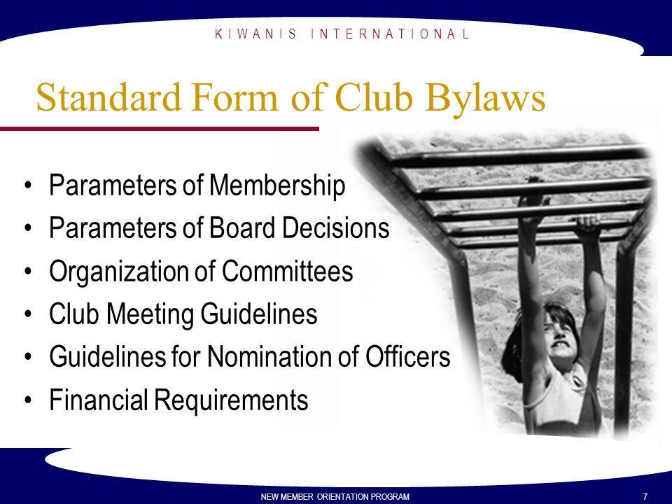 Bylaws Template For Club