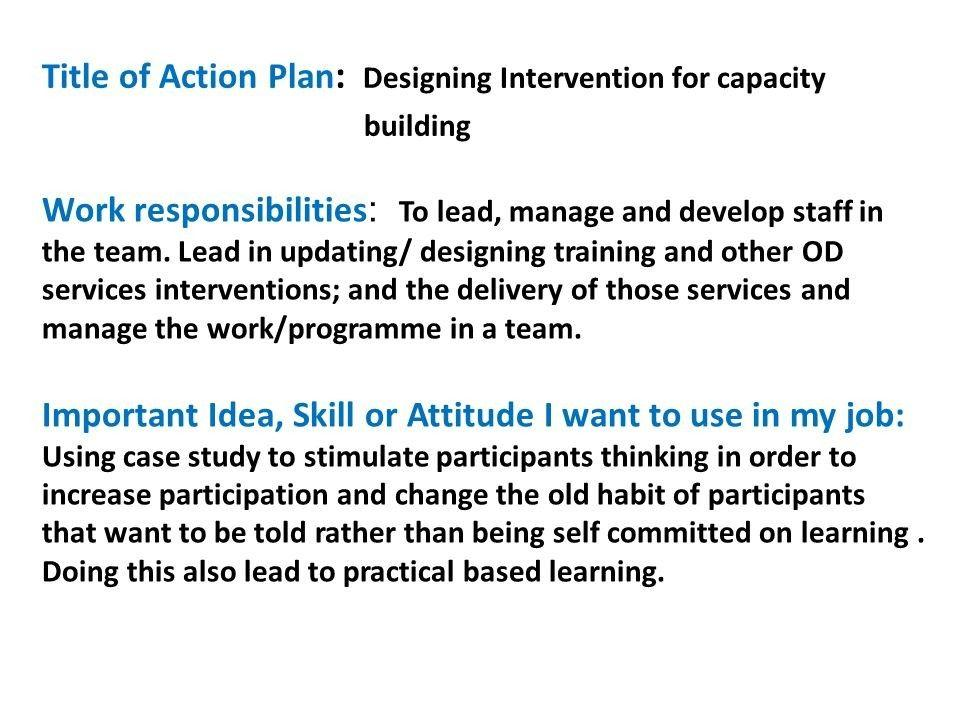 Capacity Building Plan Template