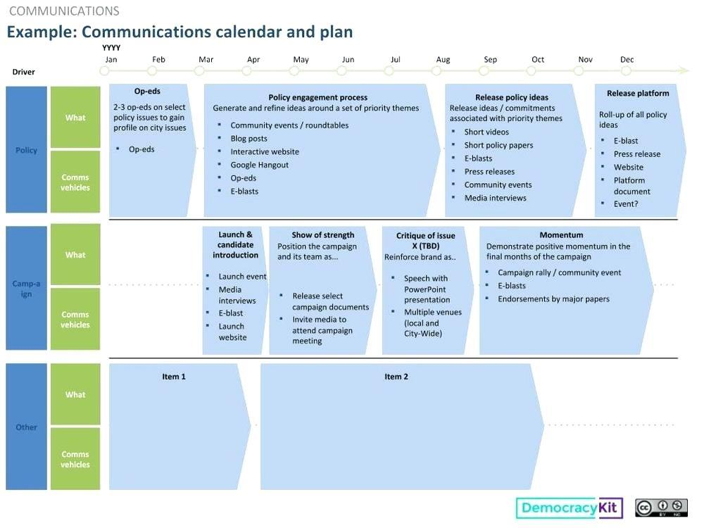 Capital Campaign Communications Plan Template