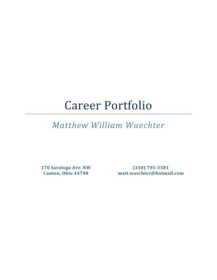 Career Portfolio Template Doc