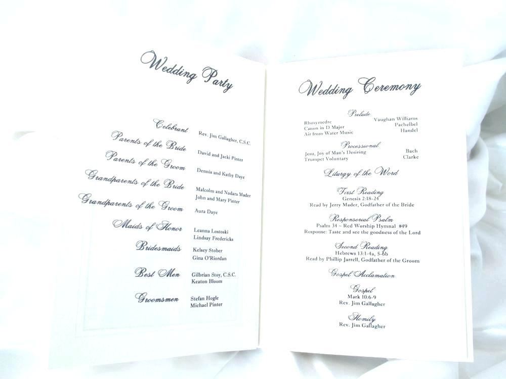 Catholic Funeral Mass Booklet Template Free