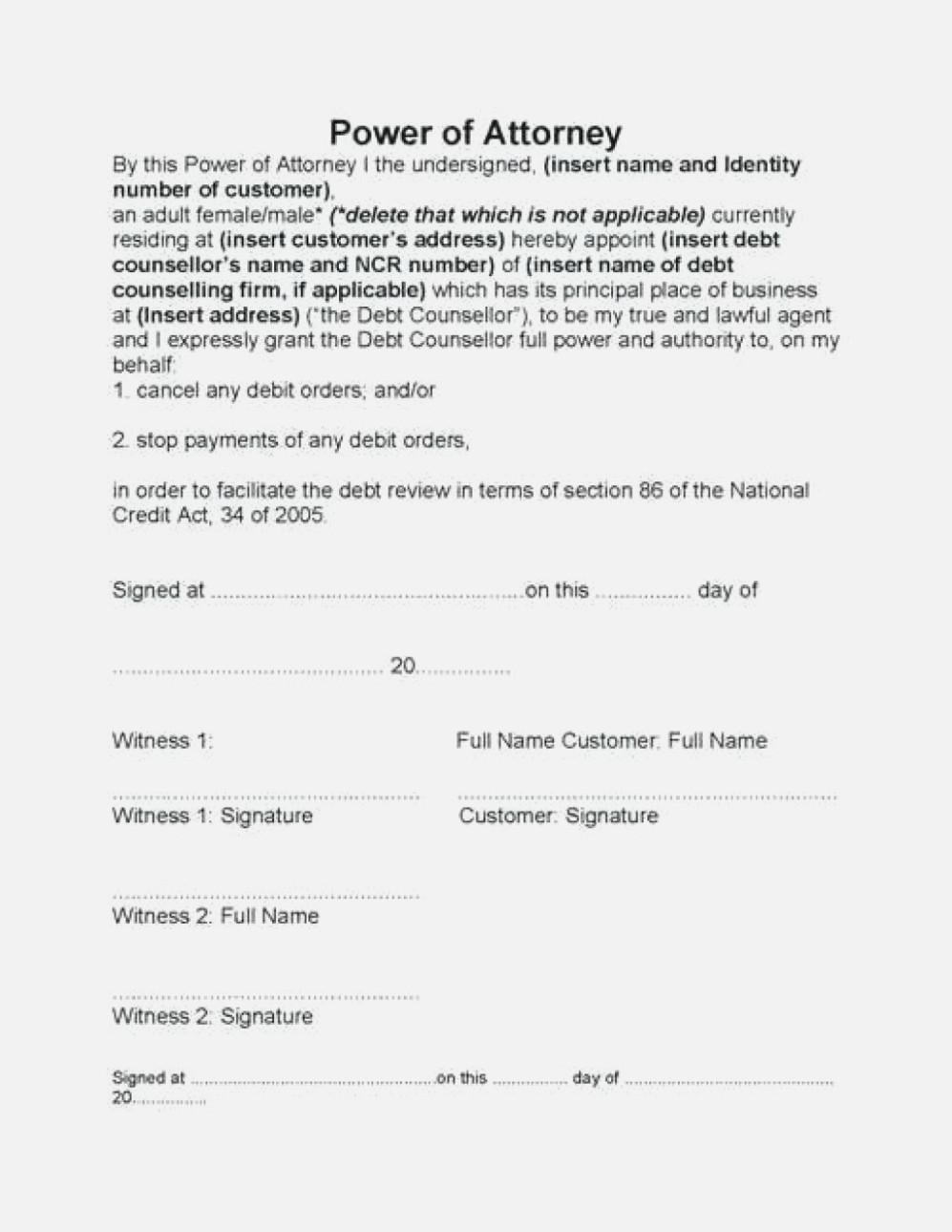 Chase Bank Power Of Attorney Form