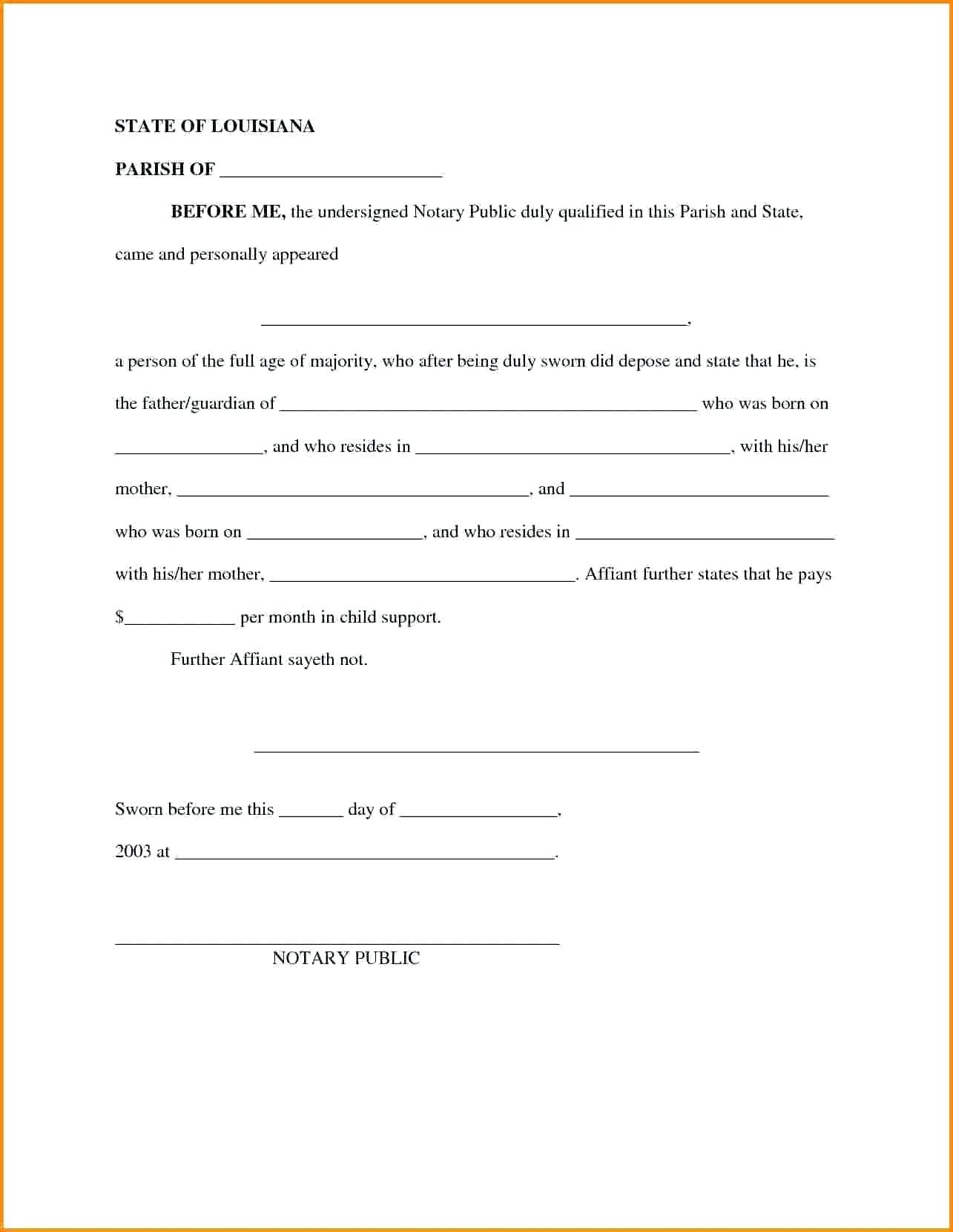 Child And Spousal Support Agreement Template