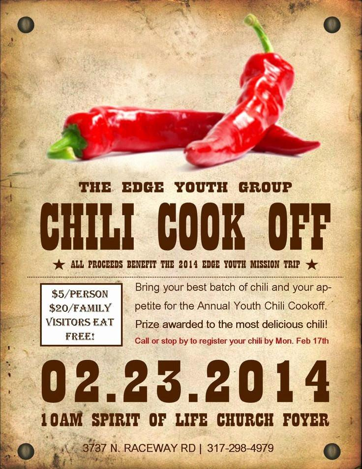 Chili Cook Off Template Free