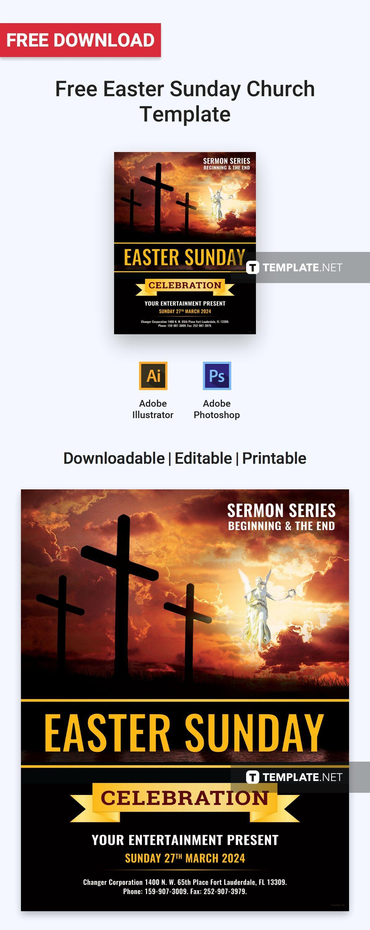Church Easter Flyer Templates Free