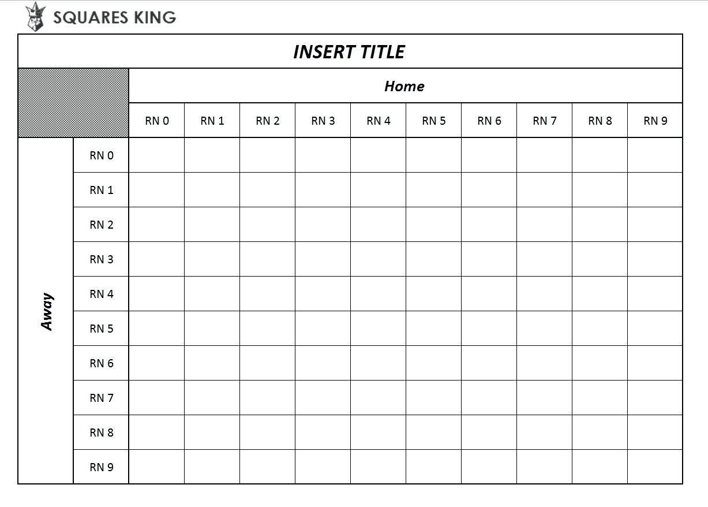 Class Schedule Grid Template