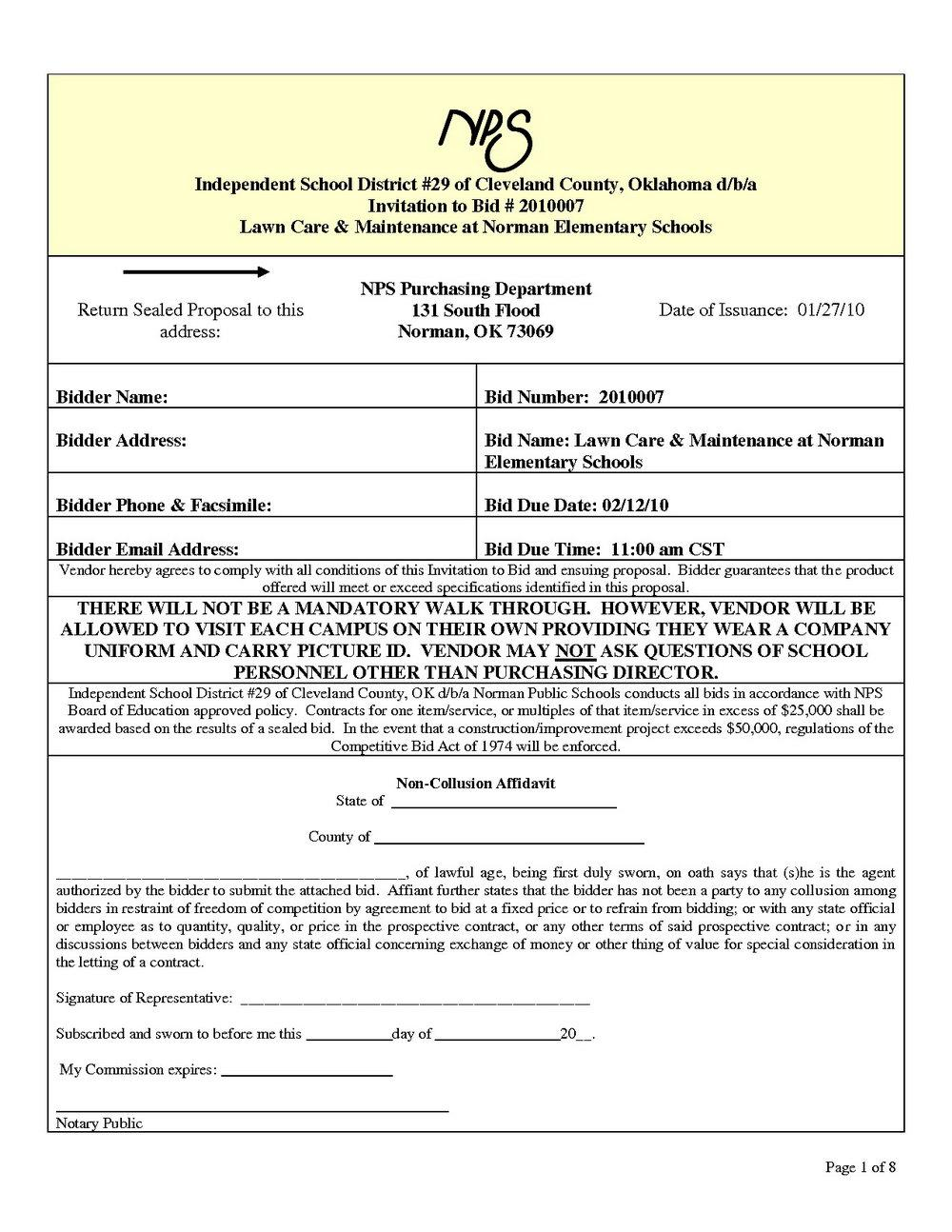 Commercial Lawn Care Contract Templates