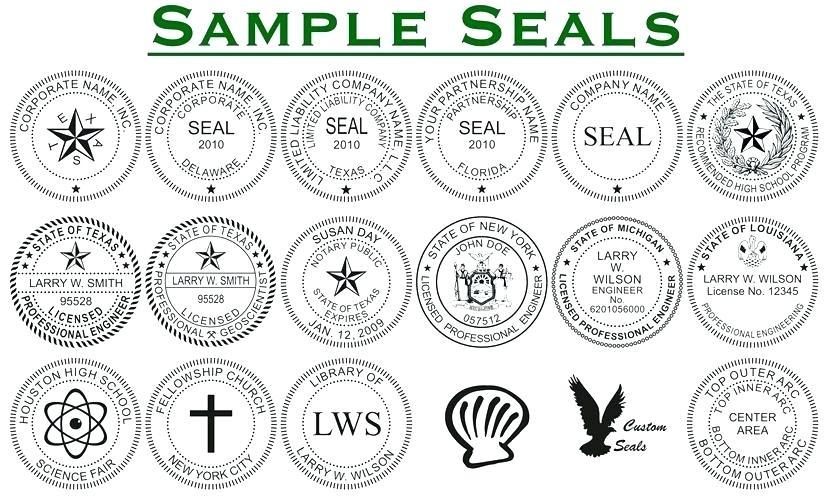 Company Seal Template Download