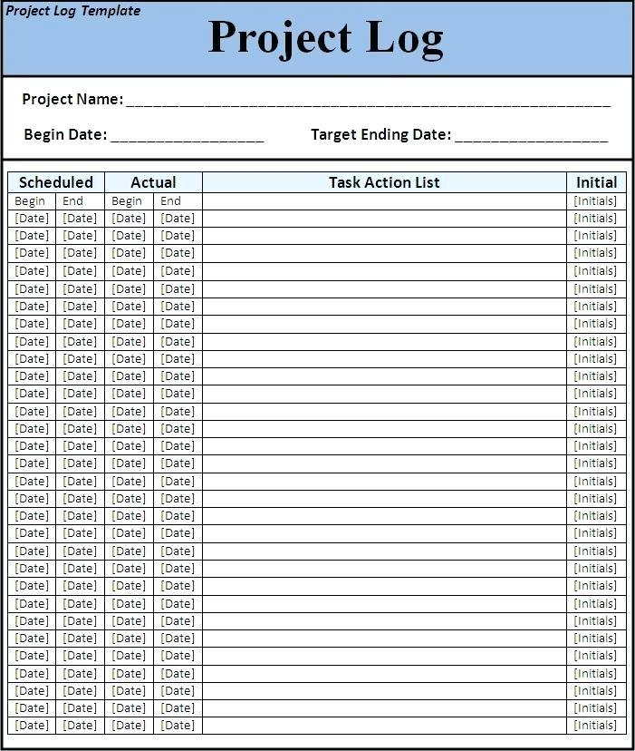 Construction And Maintenance Daily Log Template