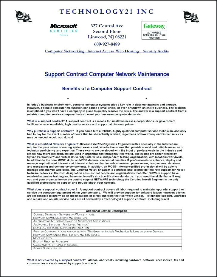 Courier Service Level Agreement Template