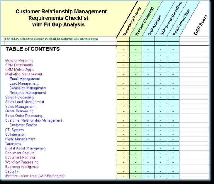 Crm Functional Requirements Template