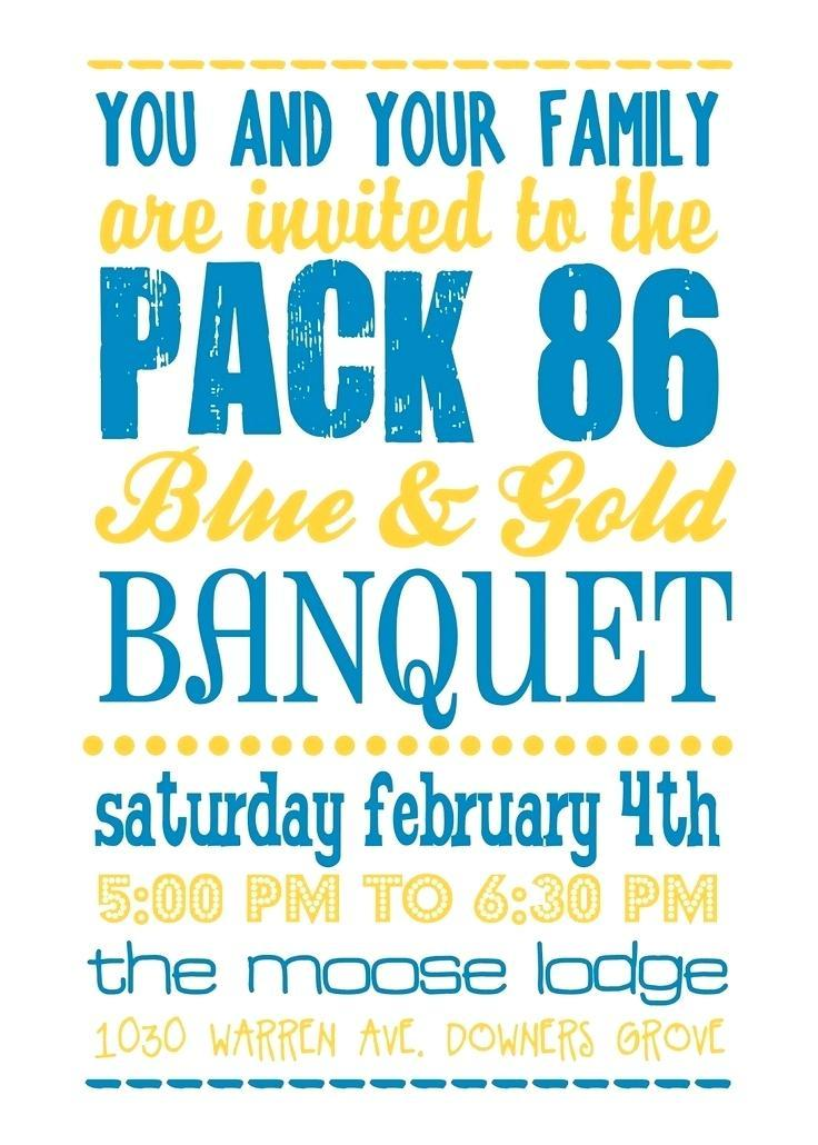 Cub Scout Blue And Gold Invitation Templates