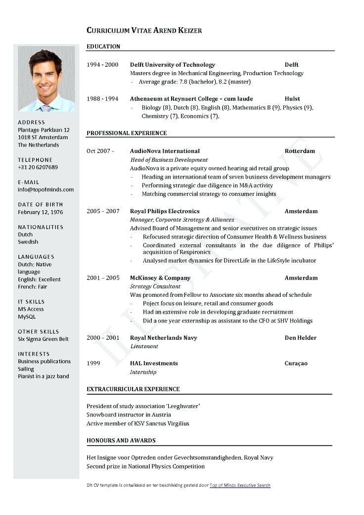 Curriculum Vitae Template Word Bahasa Indonesia