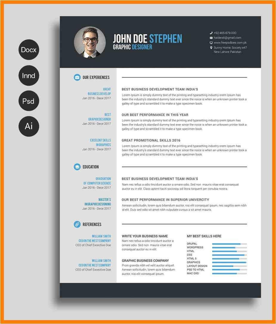 Cv Template Free Download Word
