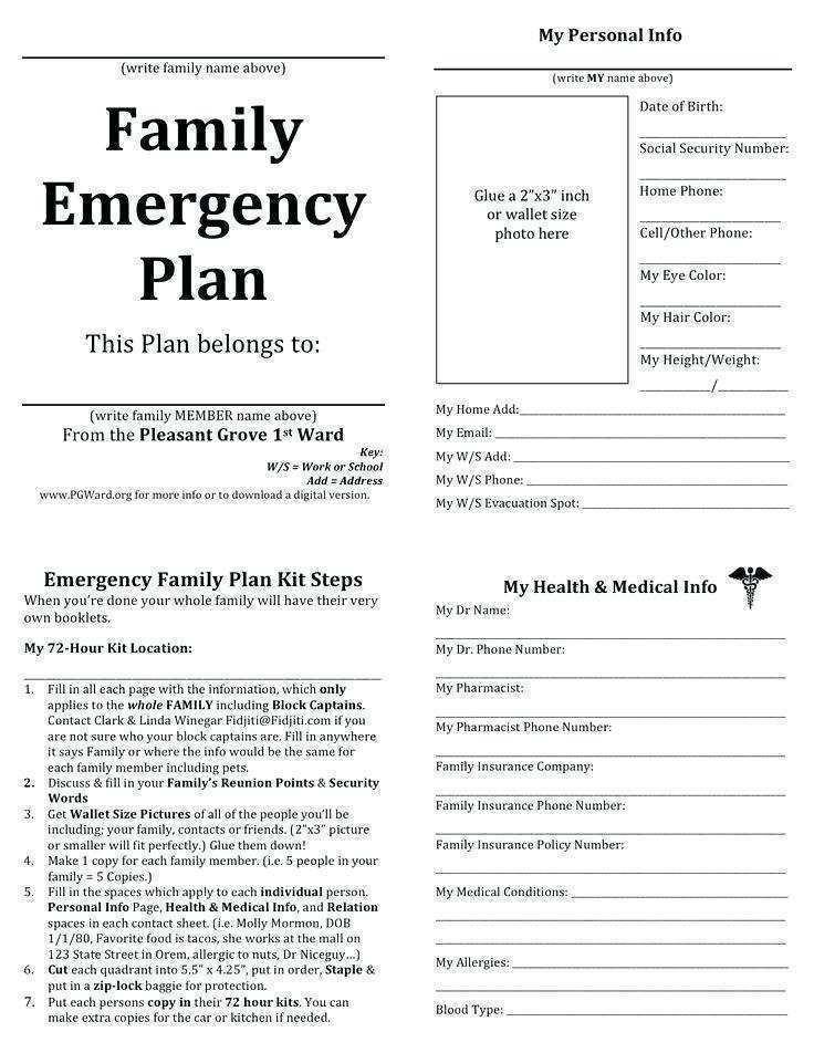 Daycare Emergency Preparedness Plan Template