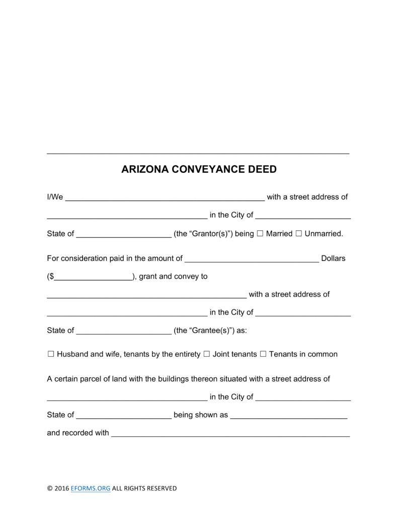 Deed Of Conveyance Form