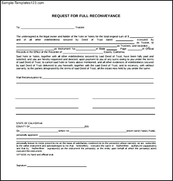 Deed Of Conveyance Sample