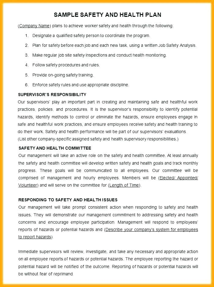Demolition Safety Plan Template