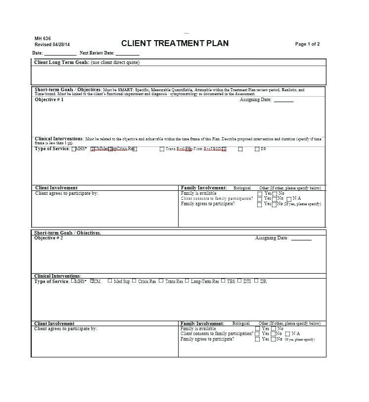 Dental Hygiene Treatment Plan Template