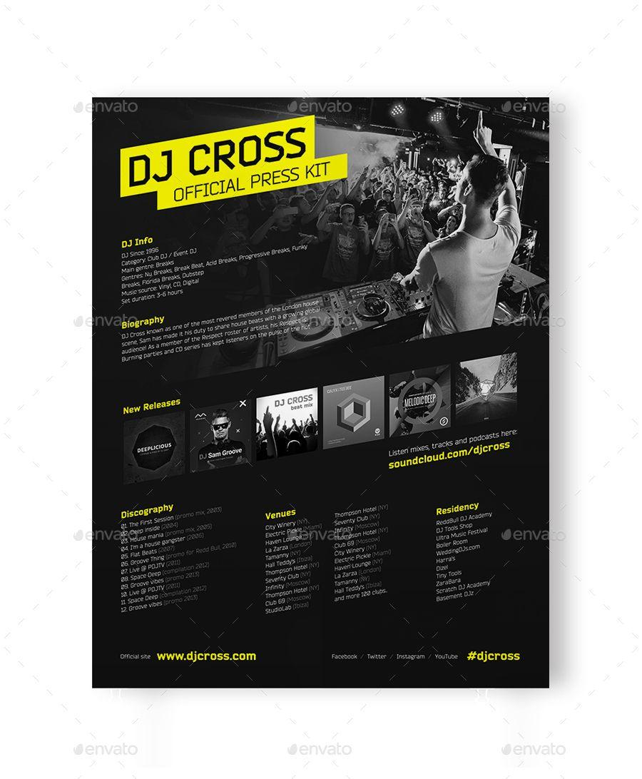 Dj Press Kit Template