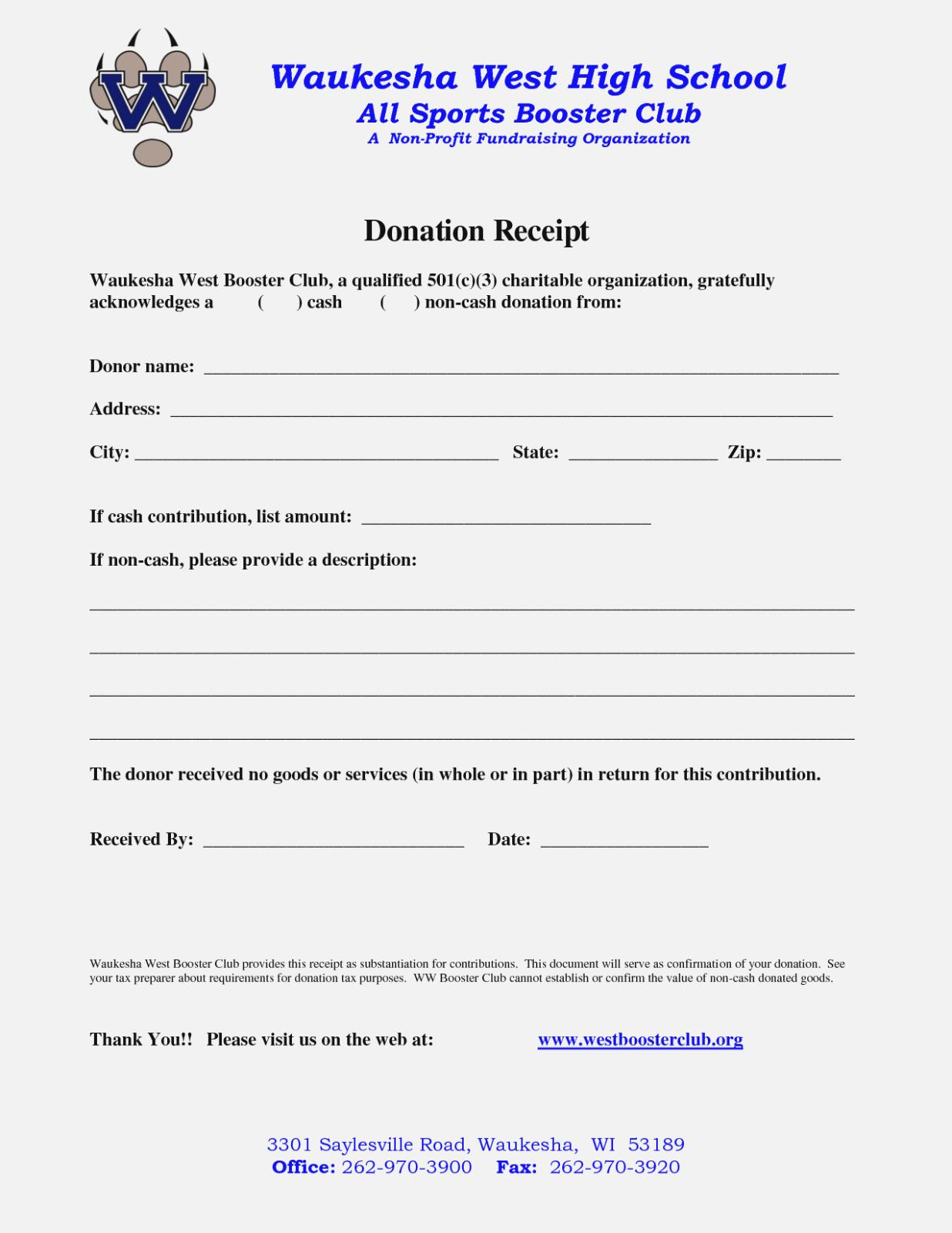 Donation Form Template For Non Profit