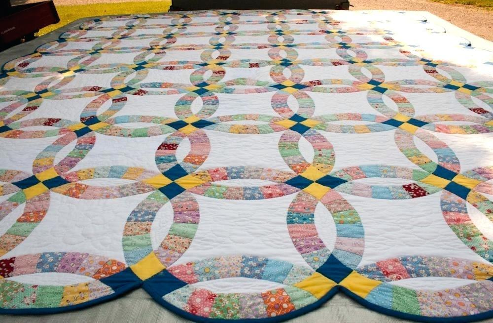 Double Wedding Ring Quilt Pattern Tutorial