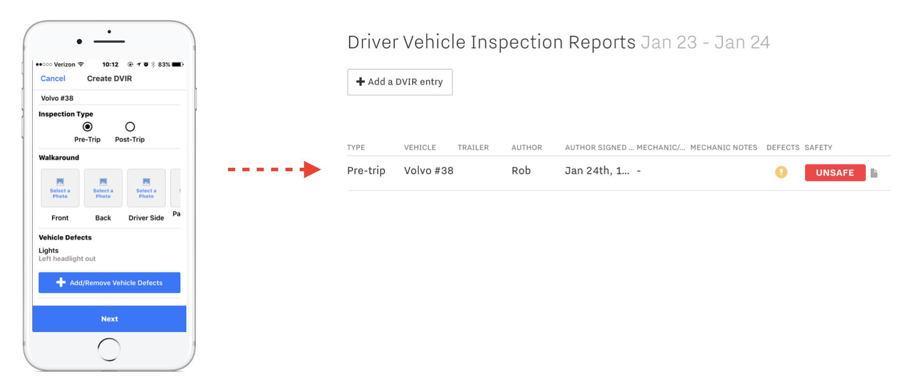 Drivers Daily Vehicle Inspection Report Form