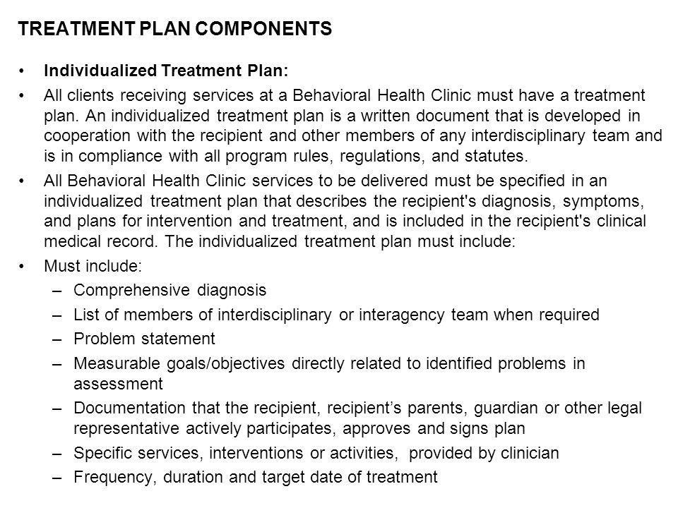 Drug Abuse Treatment Plan Example