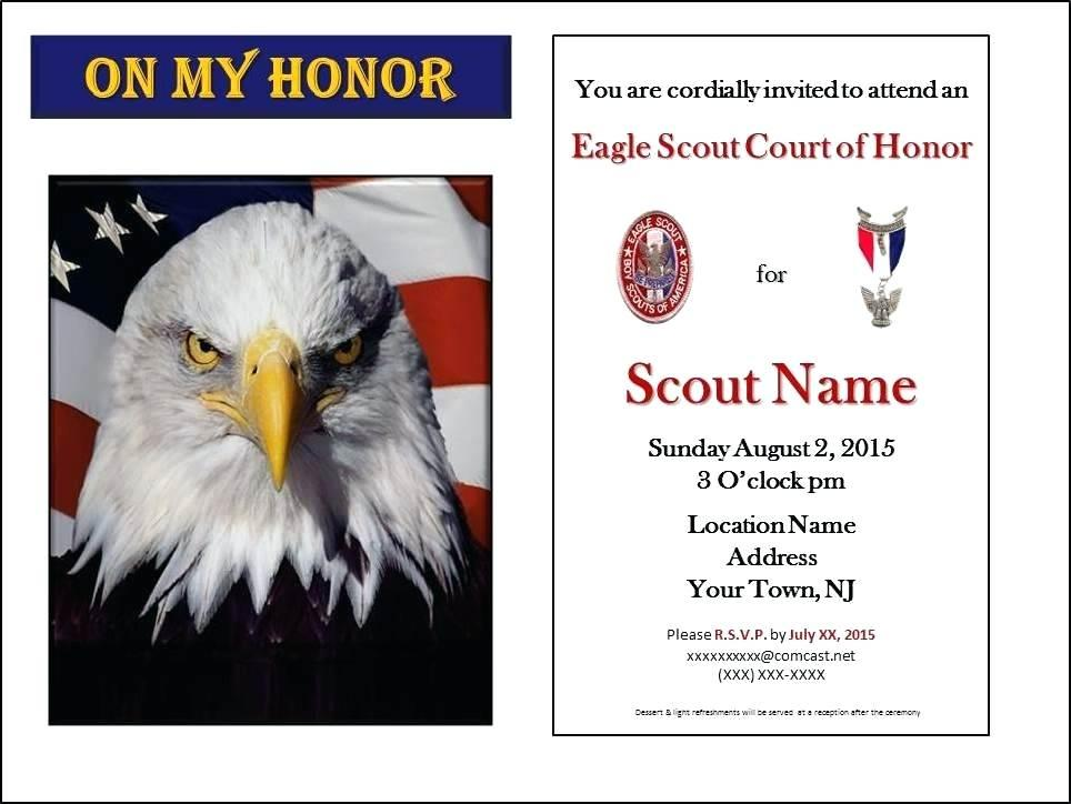 Eagle Scout Ceremony Invitations Wording
