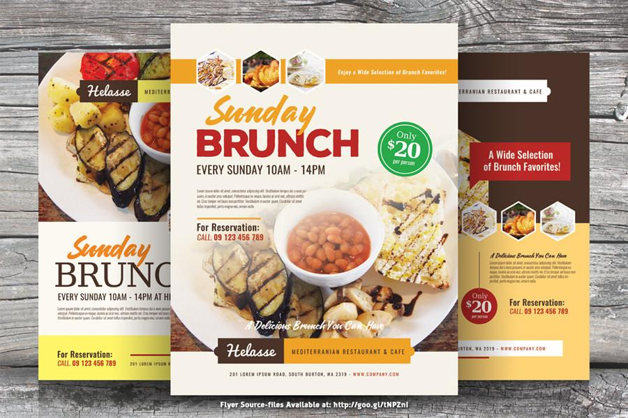Easter Brunch Flyer Template