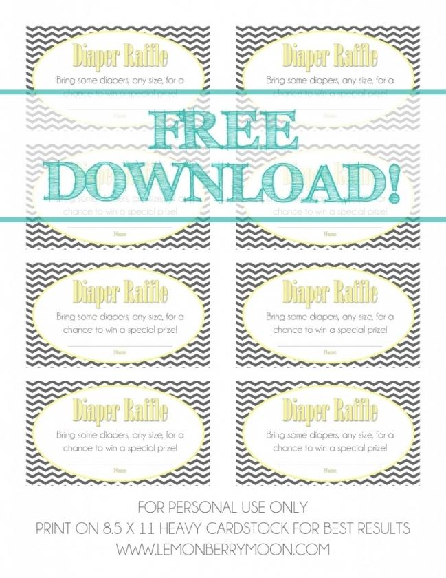 Easter Raffle Poster Template Free