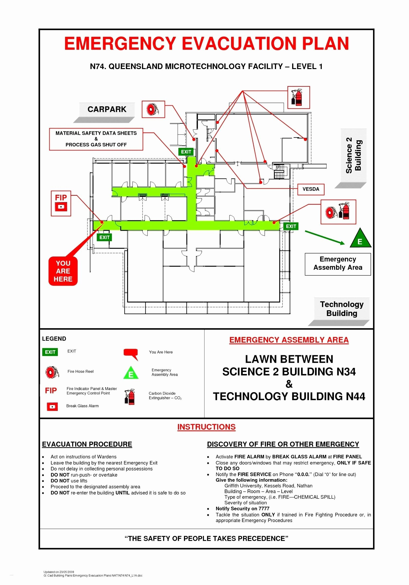 Emergency Evacuation Floor Plan Sample