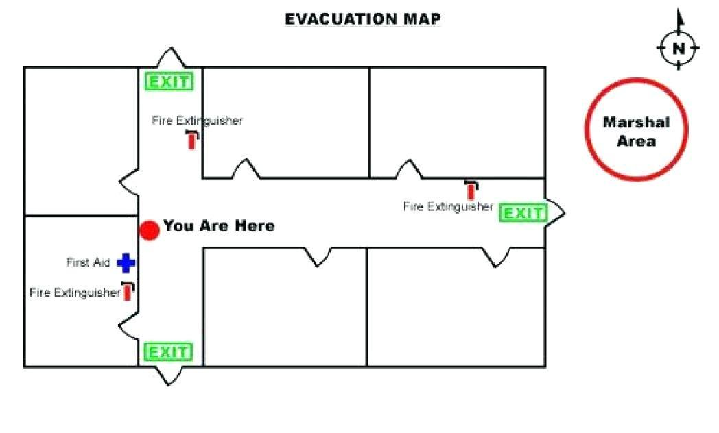 Emergency Evacuation Plan Map Template