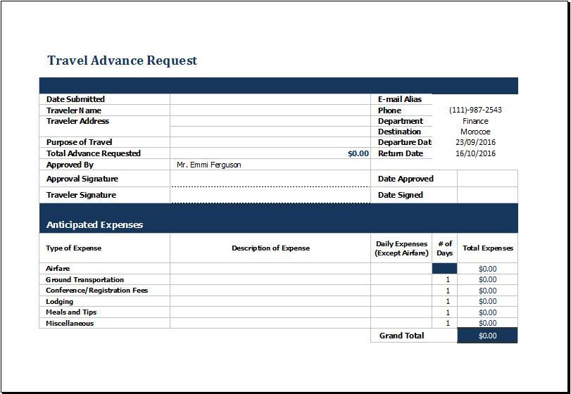 Employee Cash Advance Agreement Template