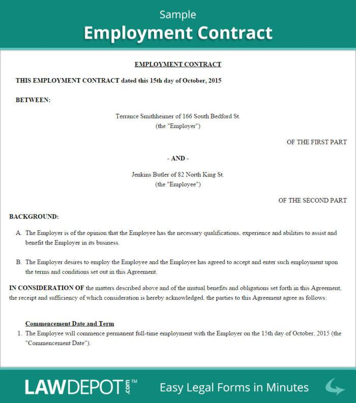 Employee Contract Sample Uae