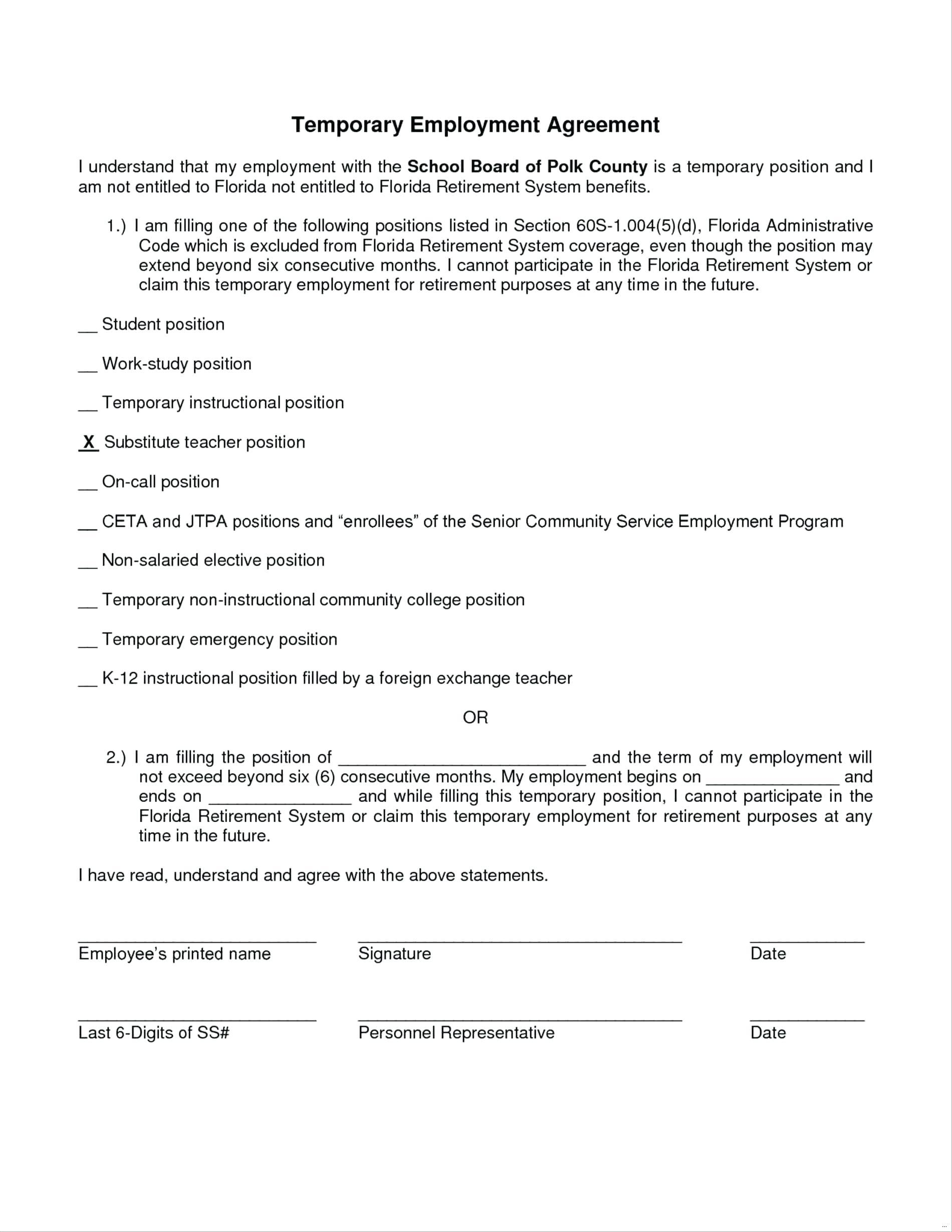Employee Employment Contract Sample