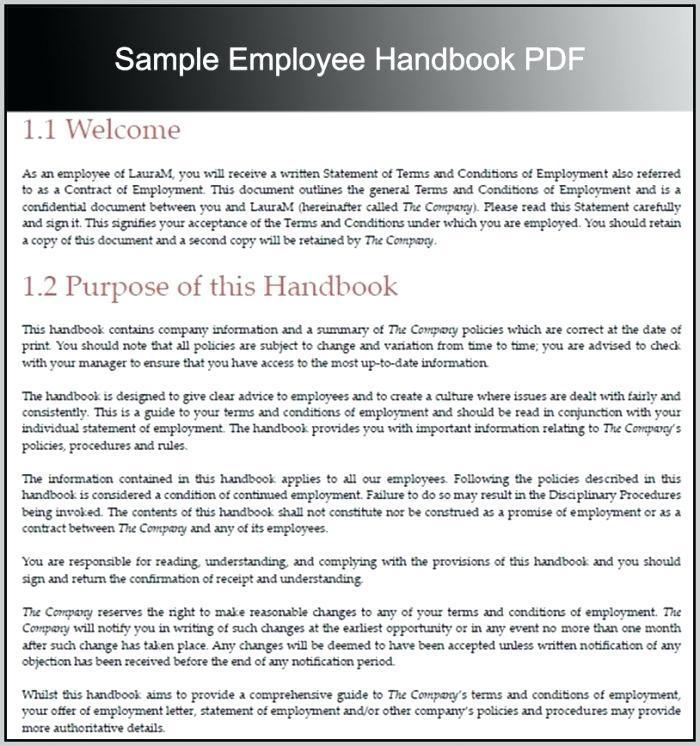 Employee Handbook Template Microsoft Word
