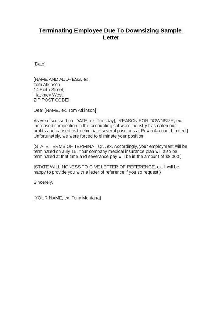 Employment Termination Letter Sample