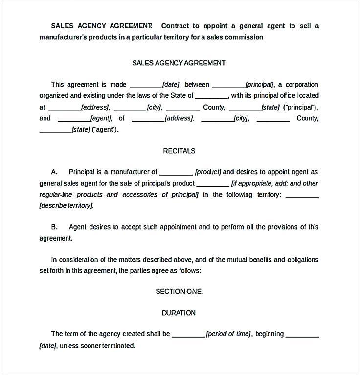 Estate Agent Sale Contract Template