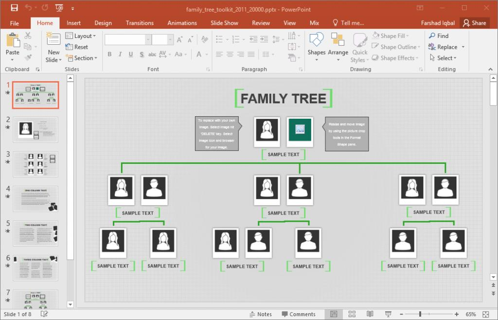 Genealogy Family Tree Templates Excel