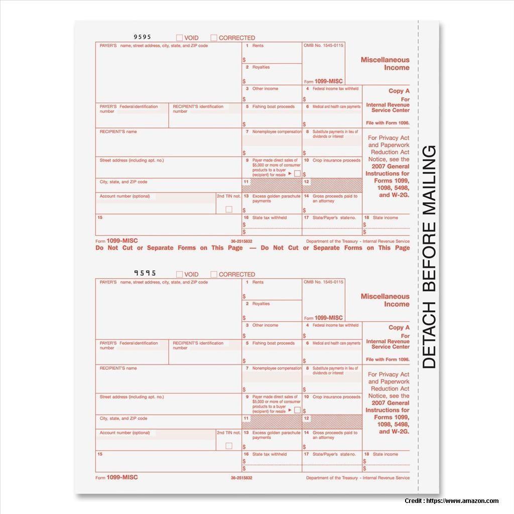 Laser Printer 1099 Misc Forms