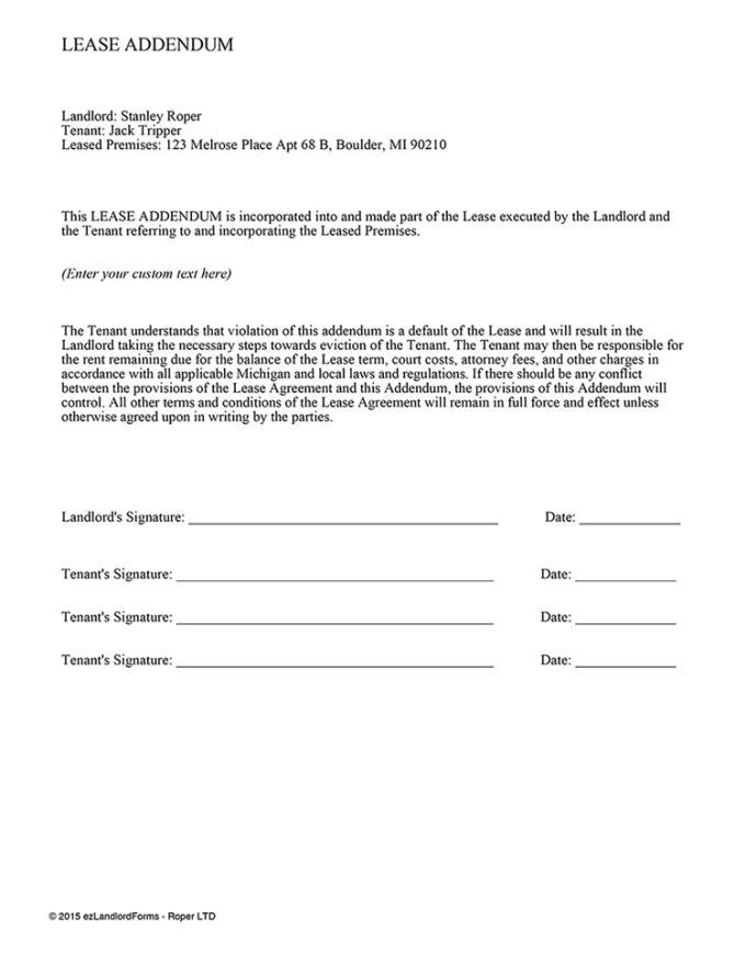 Lease Amendment Template Ontario