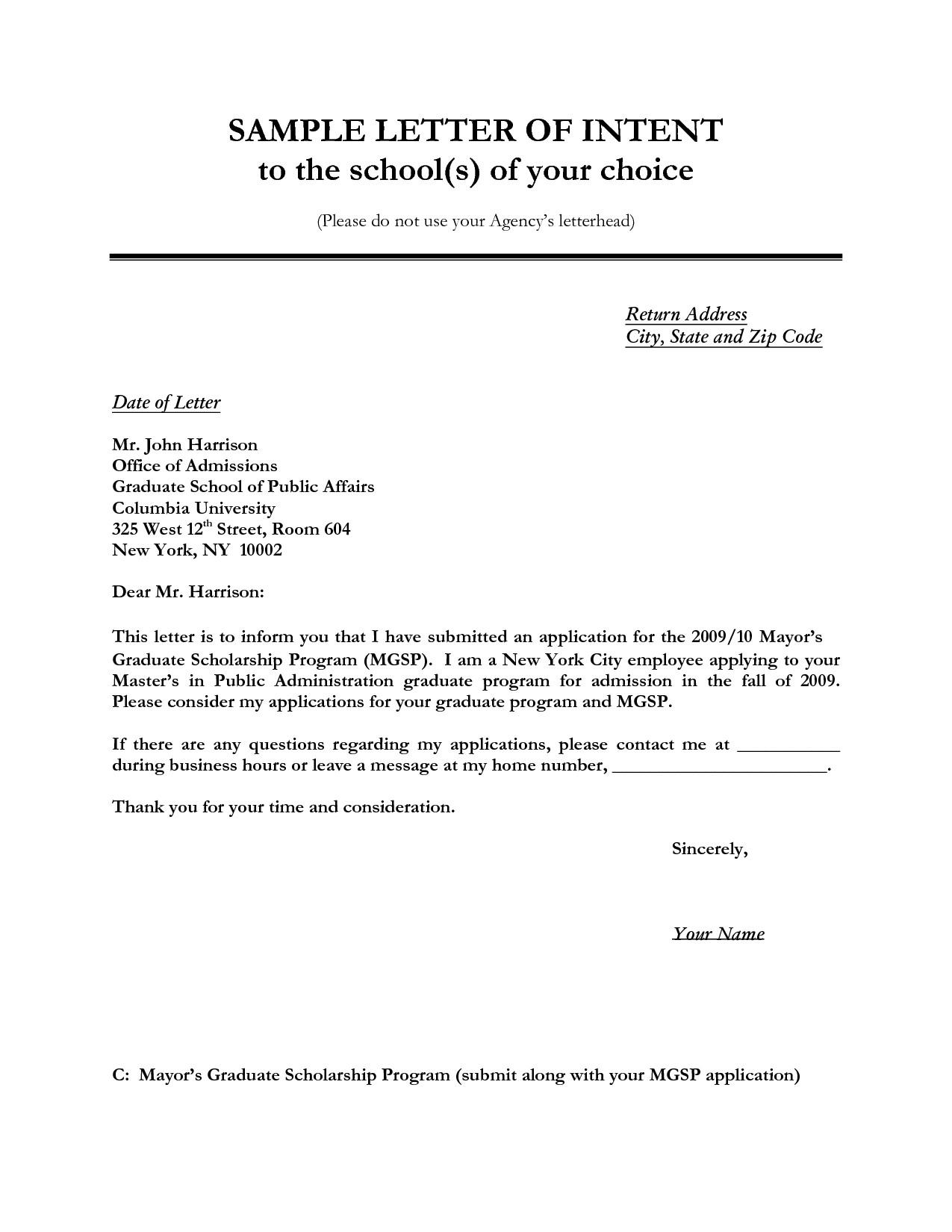 Lease Renewal Letter Of Intent Sample