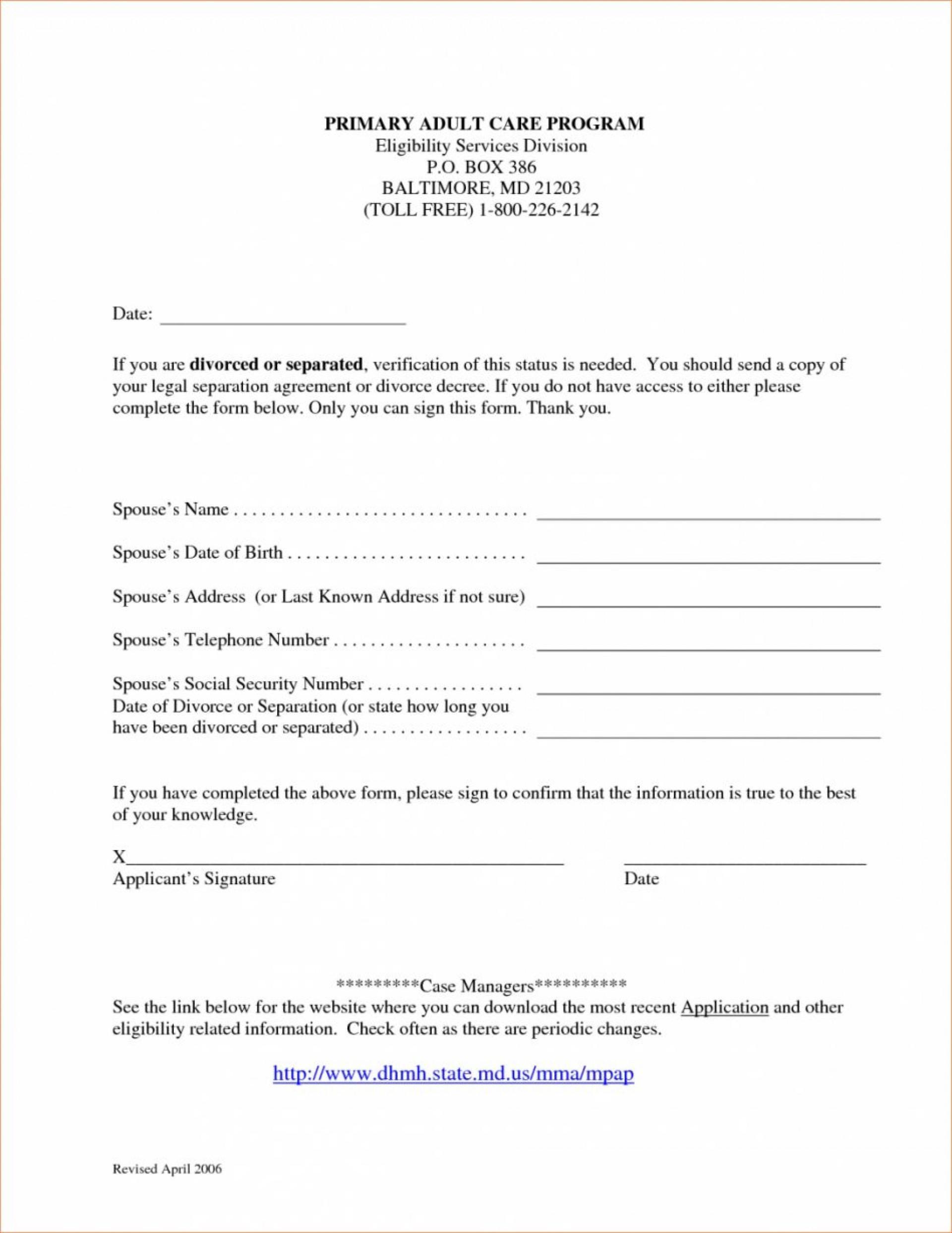 Marital Separation Agreement Template Virginia